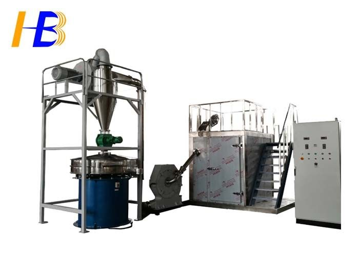 TPU /  ABS Plastic Material Grinders , Tumbler Sieving Pulverizer Machine For Powder