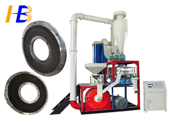 Heat - Sensitive Material Rubber Grinding Machine For EDPM Granules Rubber